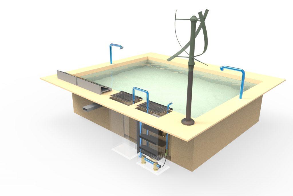 自然曝氣系統